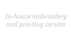 In-house printing and embroidery Gloucester