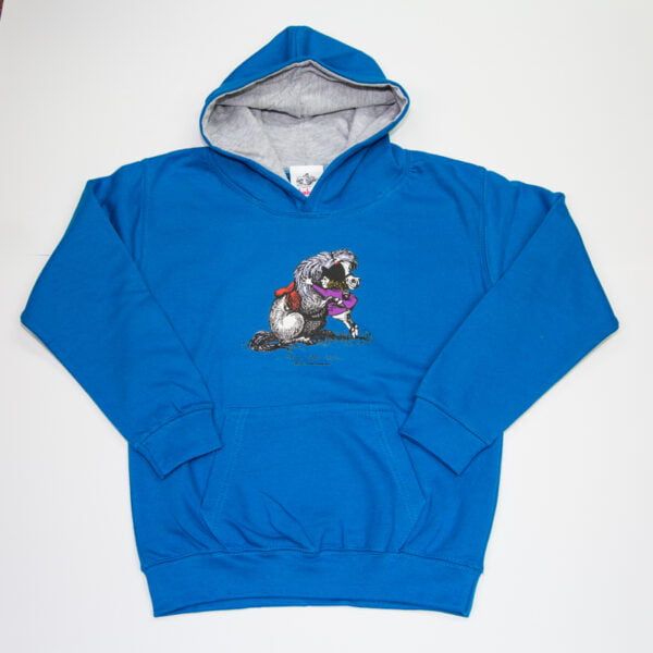 He'll Find You Hoodie Junior Sapphire Grey