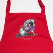 Thelwell He'll Find You Apron Red