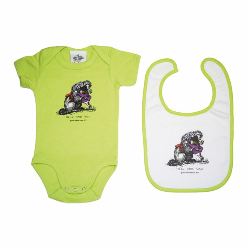 Thelwell Baby Set He'll Find You Apple White
