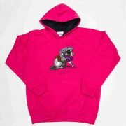 Thelwell Hoodie He'll Find You Hot Pink Navy