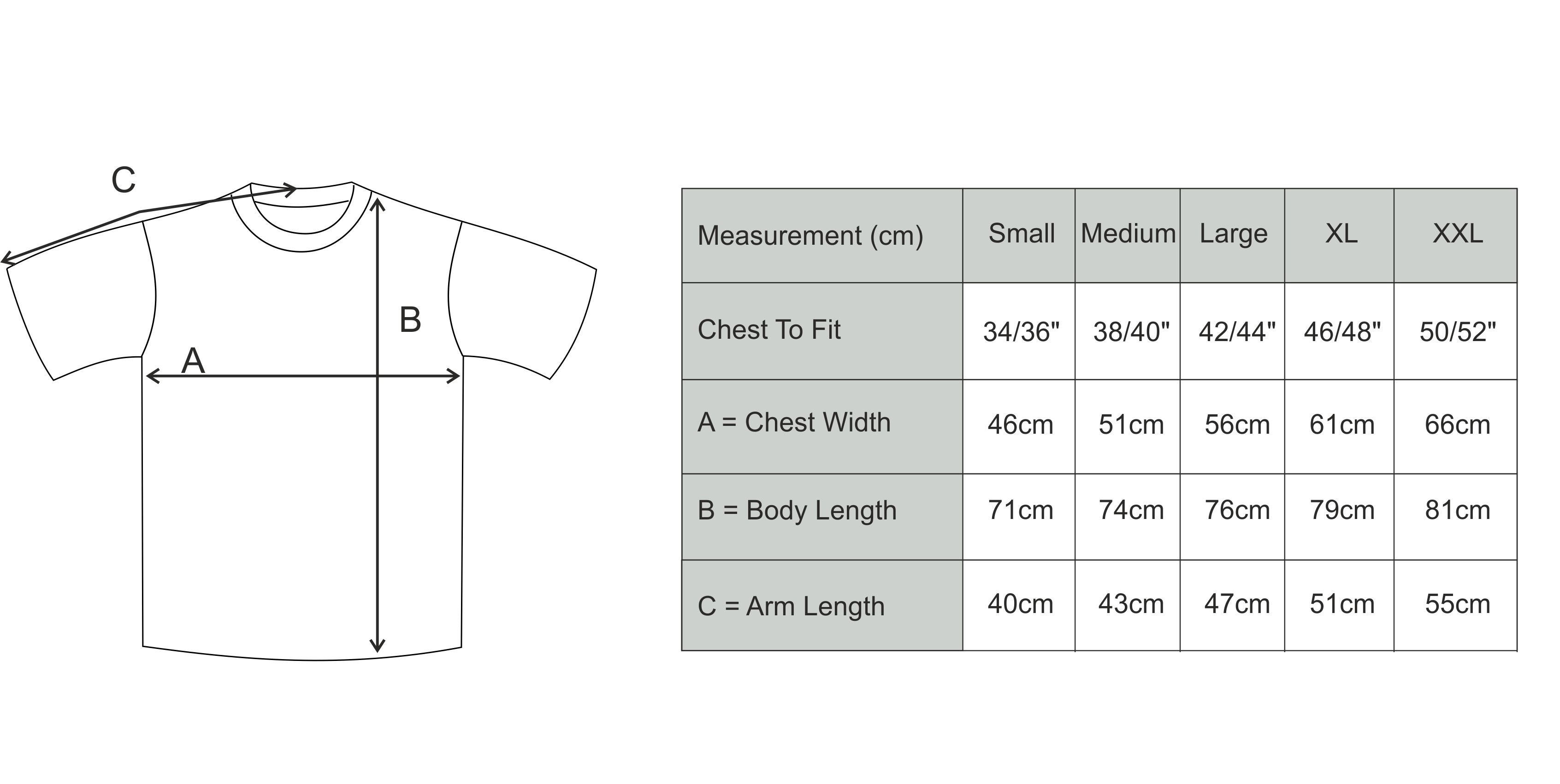 Size Guide Adult T