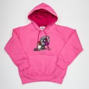 Thelwell Hoodie He'll Find You Candy Floss Hot Pink Adults