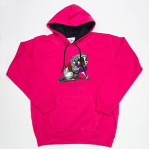 Thelwell Hoodie He'll Find You Hot Pink Navy Adult