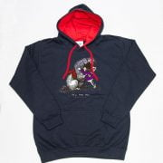 Thelwell Hoodie He'll Find You Navy Red Adults
