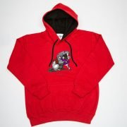 Thelwell Hoodie He'll Find You Red Black Adults