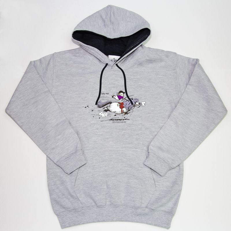 Thelwell Hoodie Tally Ho Grey Navy Adults