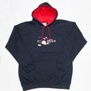 Thelwell Hoodie Tally Ho Navy Red Adults