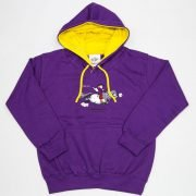 Thelwell Hoodie Tally Ho Purple Yellow Adults