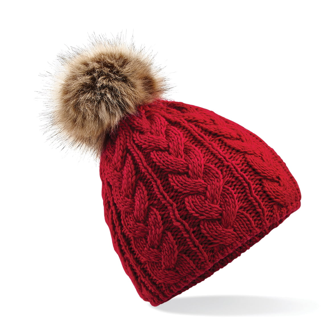 703530b9f90 Freedom Embroidery » Cable Knit Pom Pom Hat