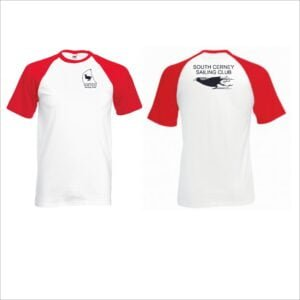 Adult Baseball T - WhiteRed